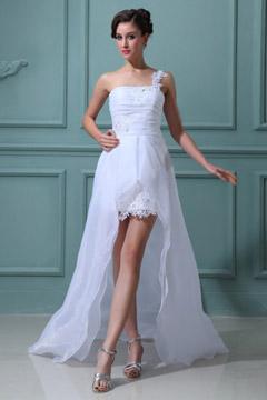 Robe de mariage plage asymétrique courte devant longue derrière