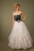2016 Elegantes A-Linie Trägerloses Ivory Brautkleider aus Organza