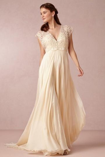 Robe de mariée grande taille bohème empire