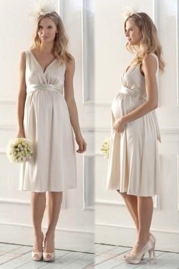Robe grossesse courte pour aller à un mariage