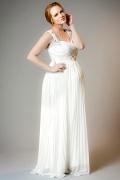 Robe plissée style grec antique pour femme enceinte au mariage