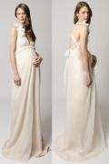 Robe de mariée sexy pour femme enceinte encolure plongeante dos nu