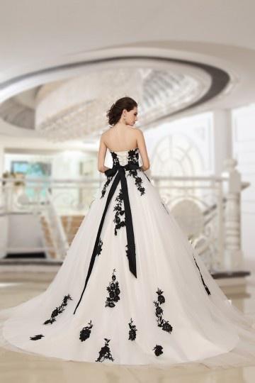 Robe de mariee noir et blanc