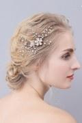 Peigne florale & brillante pour coiffure mariée
