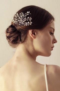 Peigne à cheveux mariée en strass