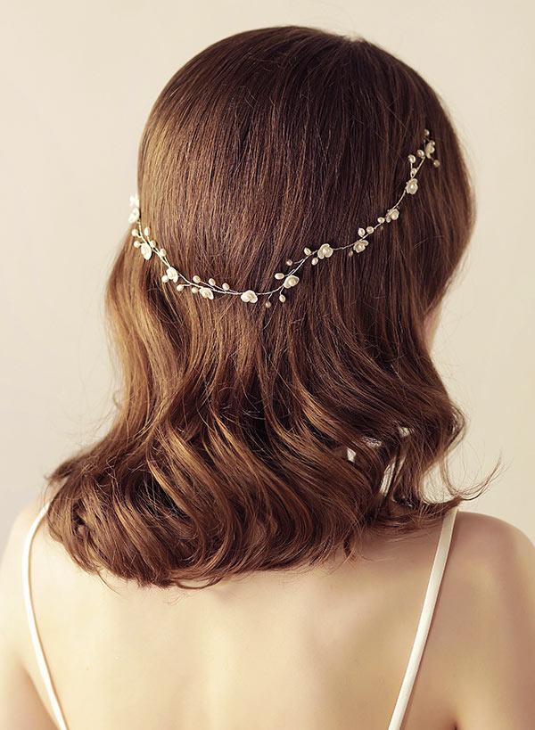 bandeau de mariée rétro en perlettes
