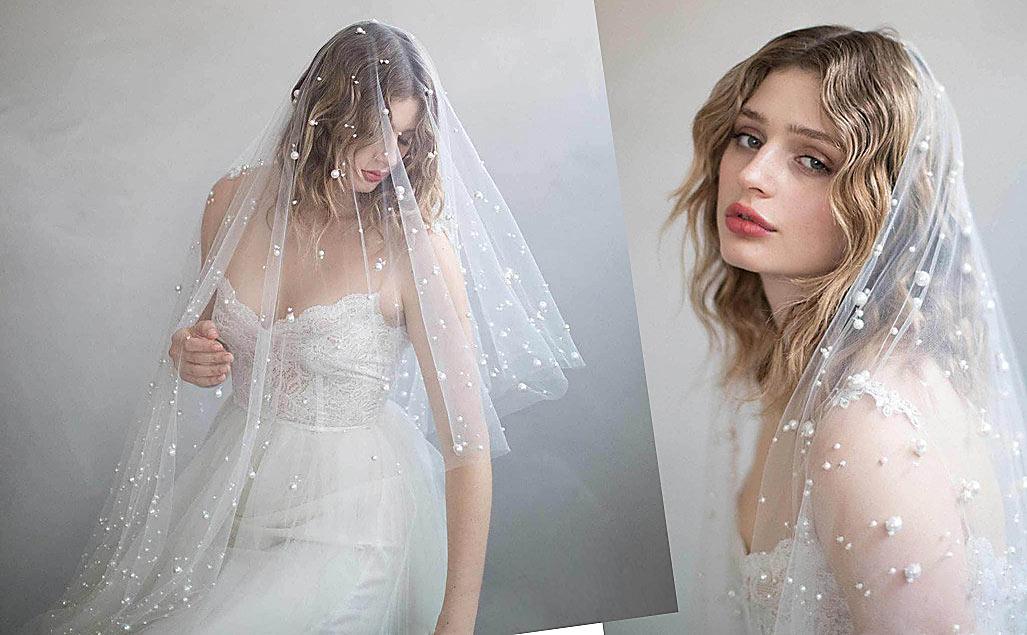 voile mariée bohème orné de perles 2020
