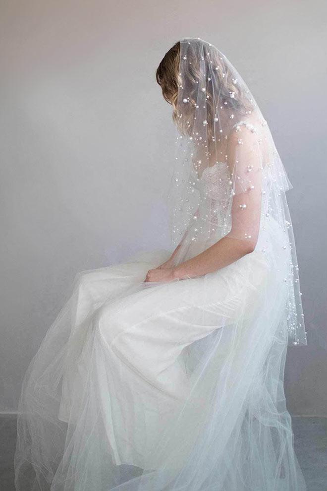 voile de mariée bohème embelli de perles