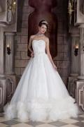 Prinzessin Stil Brautkleider mit Feder verziert aus Organza