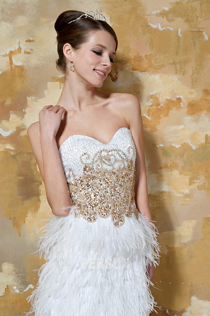robe chic courte soirée garnie de paillettes & bijoux