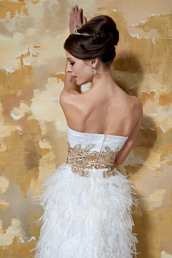 robe courte blanche pour mariage dos nu
