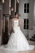 Robe de mariée bustier cœur en sirène