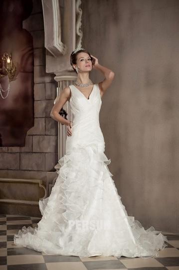 Robe pour mariage blanche cassée col V