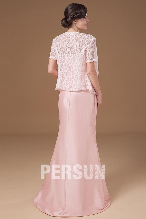 robe longue rose colonne bustier droit dos nu