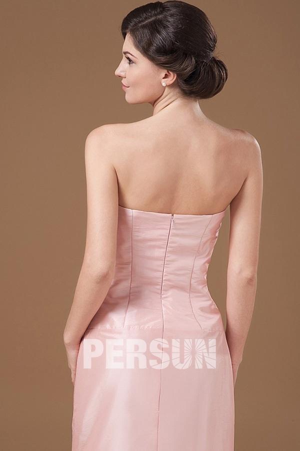 Simple robe bustier droit sirène pour pour mère des mariés