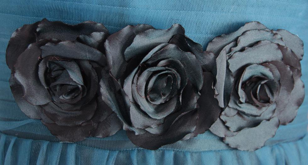 Robe longue simple mère de la mariée appliquée des fleurs