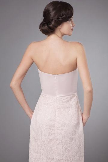 cf798989df8 Robe pour mère de mariée bustier enveloppe dentelle en satin rose ...