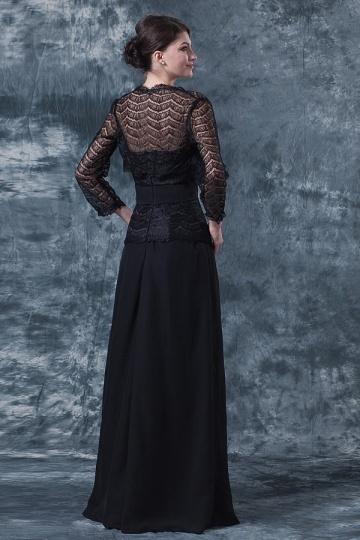 Robe noire mere de la mariee