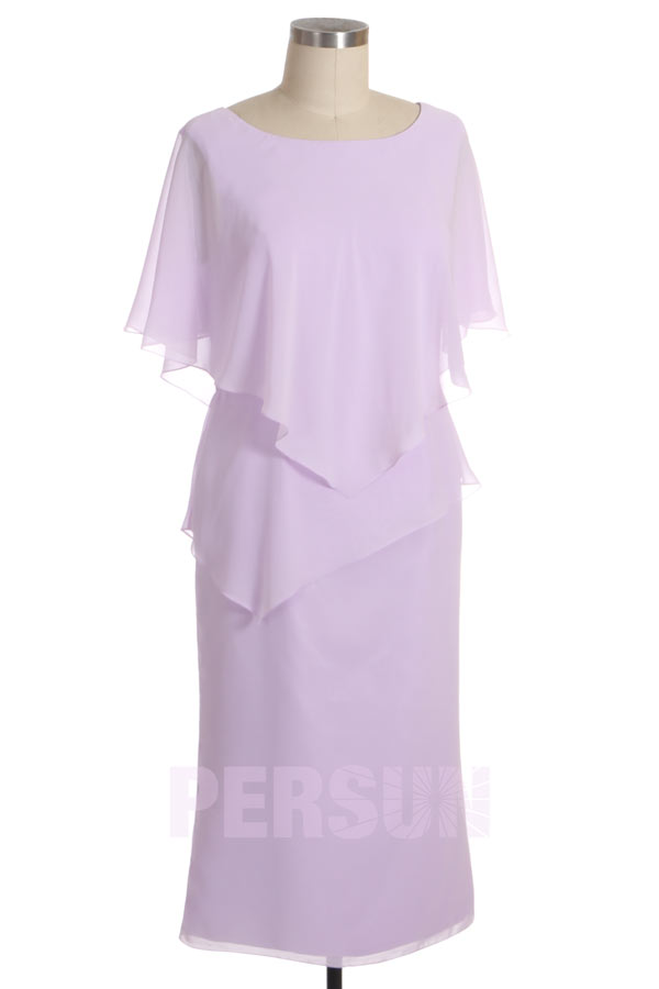 robe de cocktail lilas en mousseline