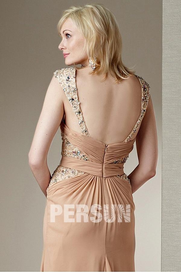 robe de m re de mari e d collet en coeur avec mancheron orn e de bijoux. Black Bedroom Furniture Sets. Home Design Ideas