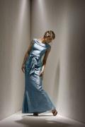 Elegantes Trompete Brautmutterkleid mit Schleife