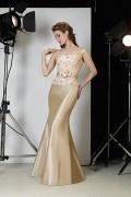 Elegantes Meerjungfrau Schleife Taft Brautmutterkleid mit kleinen Ärmeln