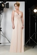 Sexy V Ausschnitt Empire bodenlanges Brautmutterkleid aus Chiffon