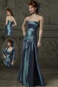 Elegantes Taft trägerloses Meerjungfrau Brautmutterkleid mit Jacke