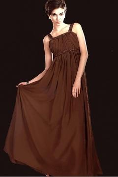 Robe mère de la mariée Empire avec bretelle en mousseline ornée de bijoux