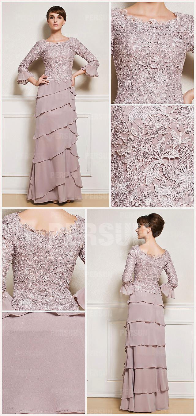 robe beige longue sol pour mère de la mariée