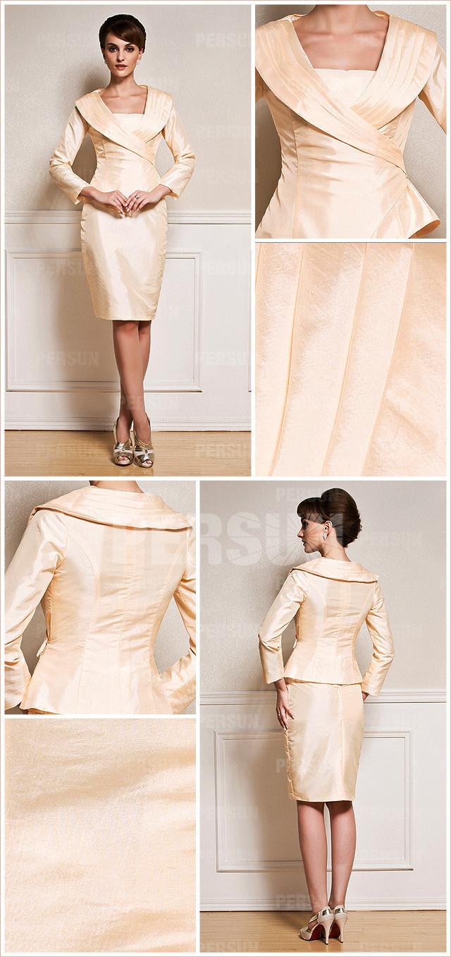 robe de soirée courte pour mariage avec manche longue