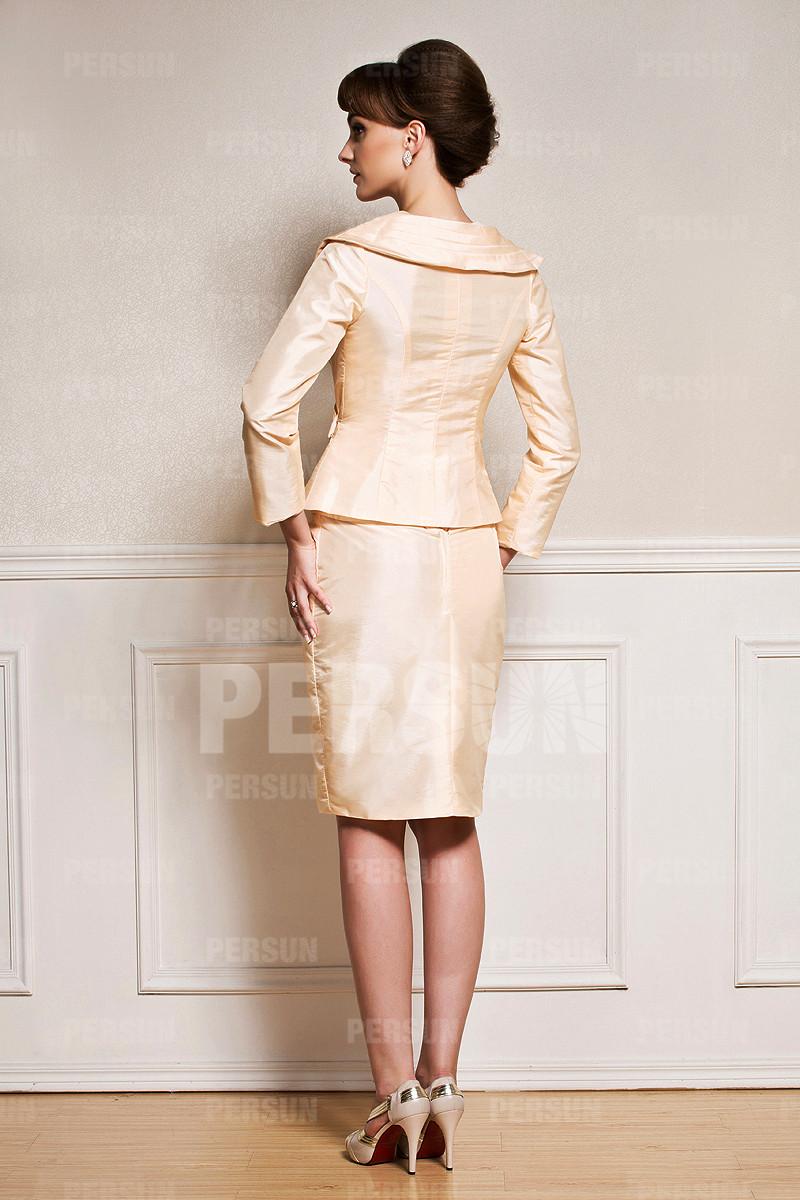 limpide en vue acheter vente la plus chaude Tailleur Chic en taffetas - Persun.fr