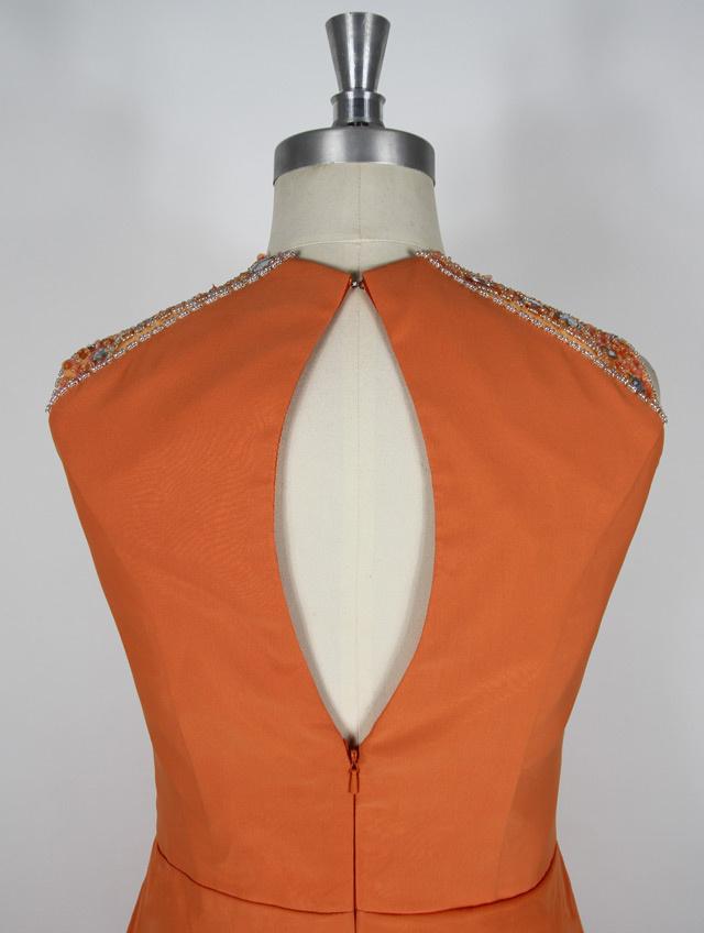 robe à dos nu orange