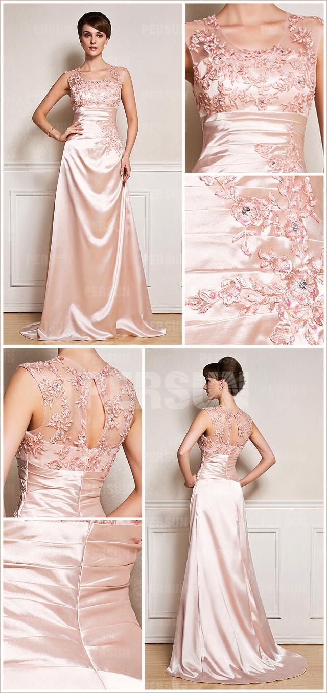 robe de soirée chic brodée de fleurs