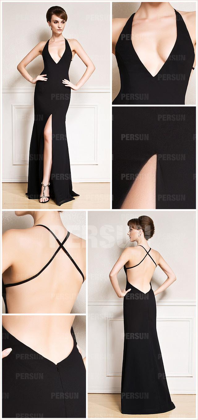 tenue robe de soirée longuefendue à coupe sexy
