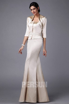 Chic robe soirée pour mariage en sirène