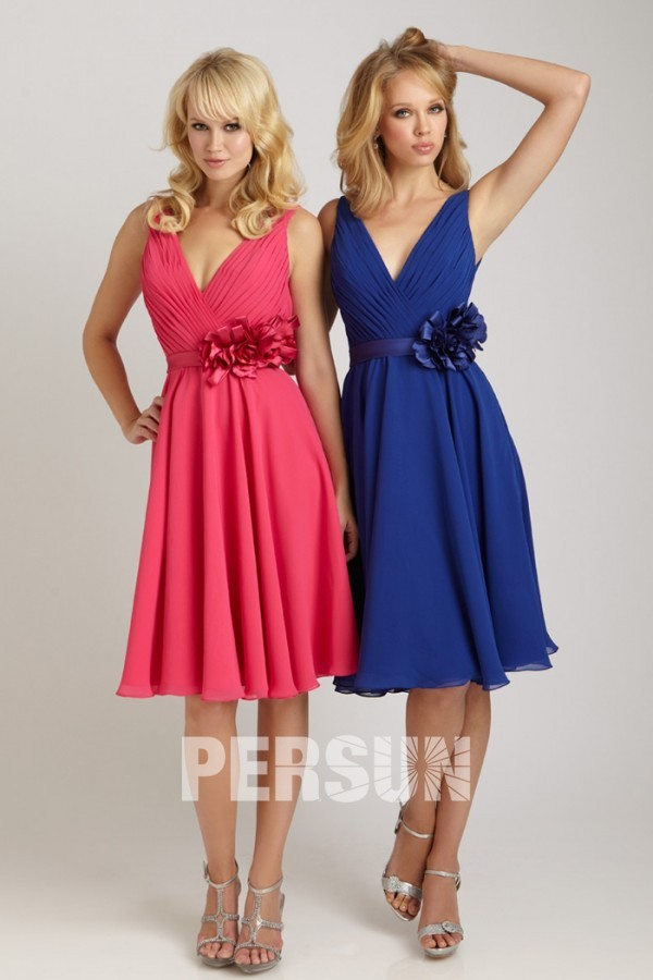 robe courte rose pour mariage