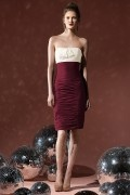 Sexy Bows Ruching Strapless Jersey Column Formal Bridesmaid Dress