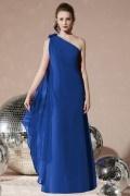 Sleek Pleats One Shoulder Chiffon Trumpet Formal Bridesmaid Dress