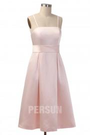 Schlichte A-Linie rosa knielange Brautjungfernkleider in rosa