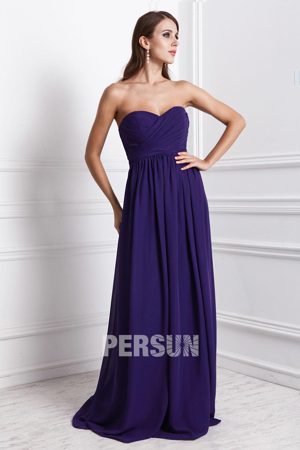 robe à bustier coeur élégante pour demoiselle d'honneur