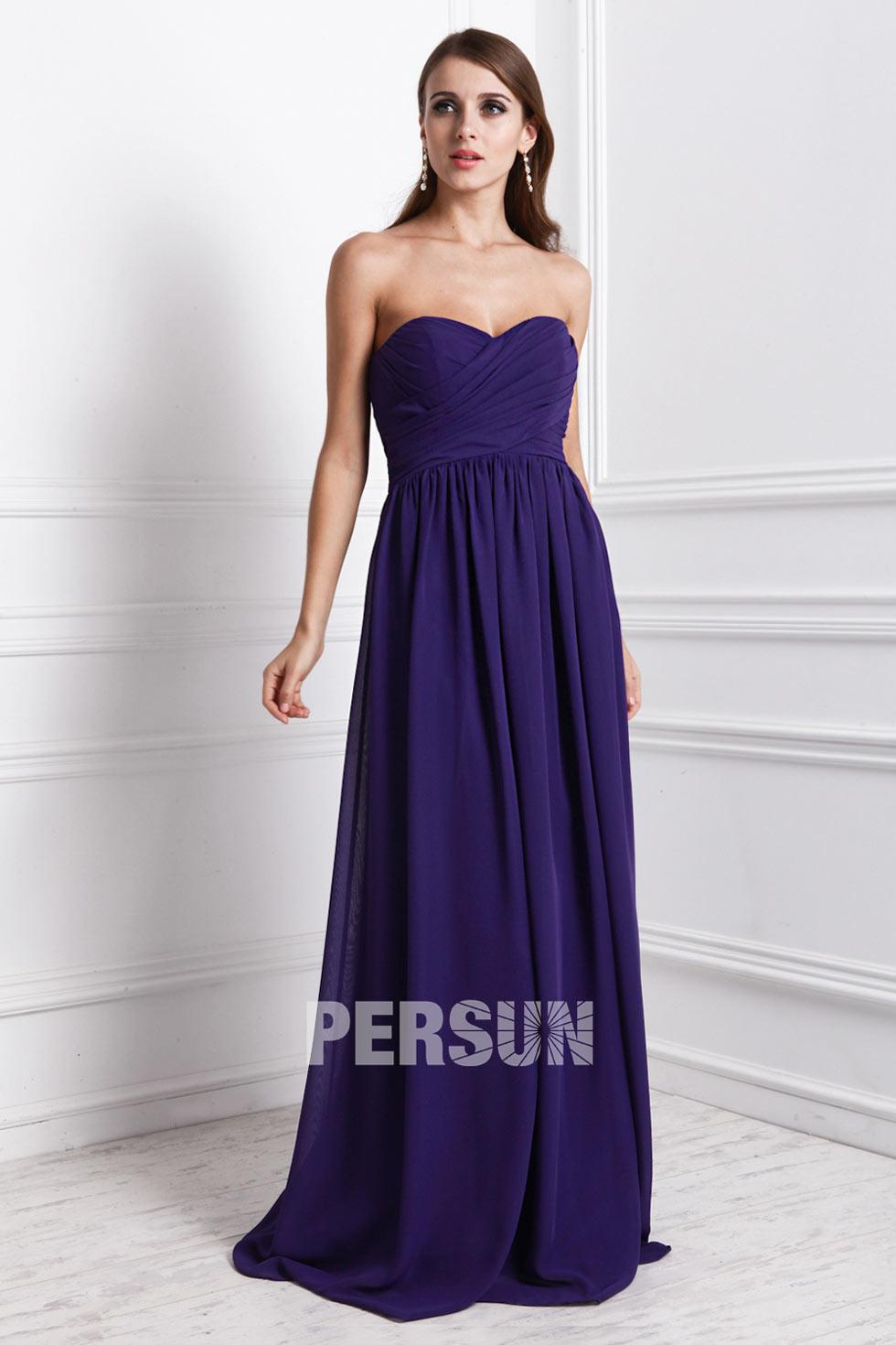 robe de soirée longue violette longue simple robe de soirée longue violette