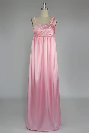 Robe demoiselle d'honneur rose longue empire