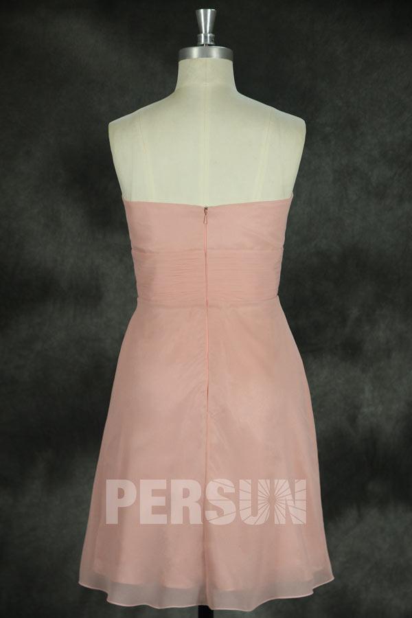 Mini robe bustier cœur vintage avec fleur pour cortège mariage été
