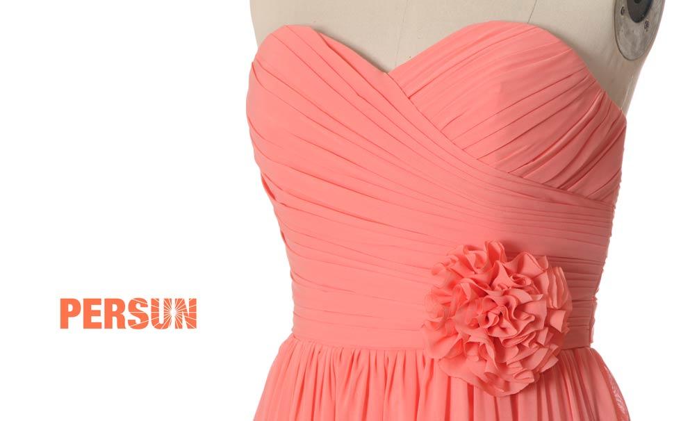 acheter robe bustier corail pour demoiselle d'honneur femme prix cassé