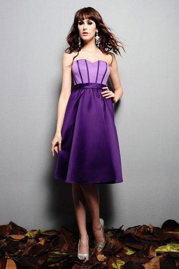 Soldes robe de cocktail violette taille 38