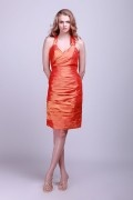 Sweetheart Taffeta Knee Length A line Formal Bridesmaid Dress
