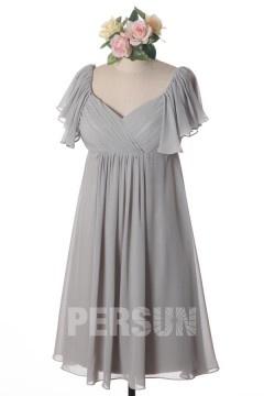 Robes de cocktail grise