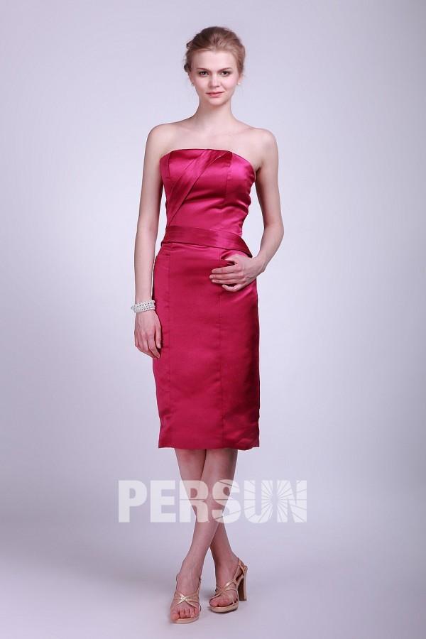 robe fuchsia fourreau pour soirée