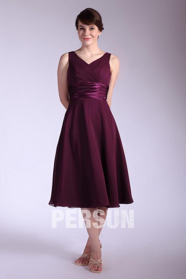 e9a6e8a5395 Rose-Croix robe de demoiselle dhonneur boléro en mousseline - Persun.fr